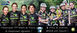 Camille, Charlotte, Flore, Emmanuelle et les jeunes de la section sportive !